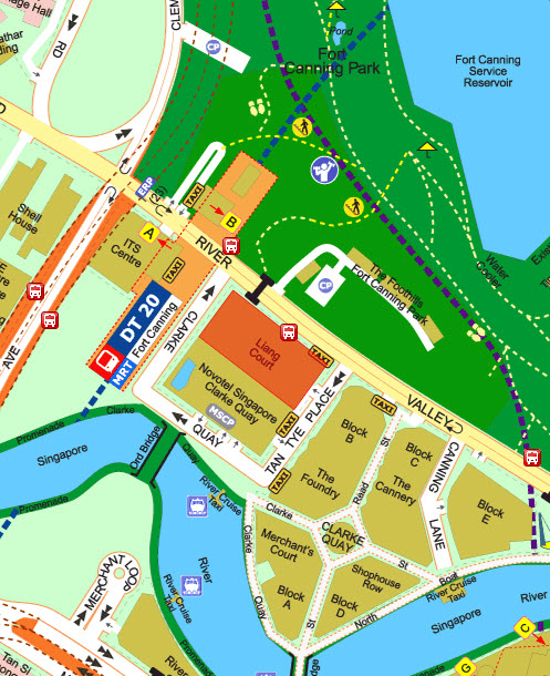 Canninghill Piers Location at River Valley Road Singapore by CDL and Capitaland